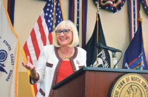 Supervisor Judi Bosworth addressed the crowd at the Veterans Breakfast.