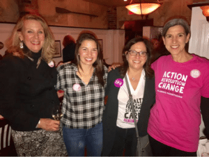 From left: PPNC President and CEO JoAnn Smith, event organizer and Port Washington resident Amanda Khalil, and PPNC Board Members Karen Seltzer and Robin Sigman