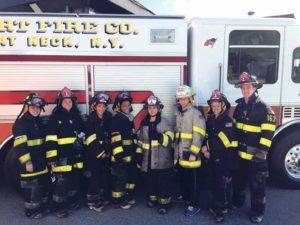 From left: Julia Motchkavitz, Maya Garfinkel, Cristel Segovia, Lorna Wade, First Lieutenant David Oginski, Captain Ryan Motchkavitz, Seth Newman and Ben Kobliner
