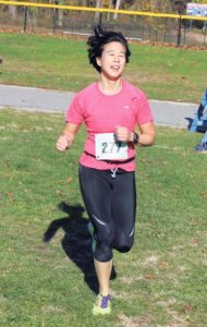 Great Neck's Vivien Lim was the first female Masters finisher.