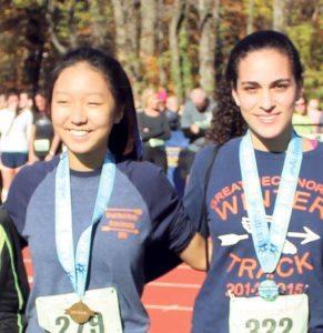 Victoria Liu (left) and Maya Mualem were both Great Neck award winners.