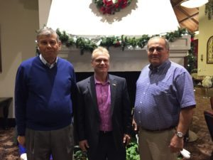 Great Neck Park District Commissioners Daniel M. Nachmanoff, Frank Cilluffo and Robert A. Lincoln, Jr., pose together after the votes were tallied.