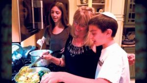 The producer/director's mom, Ruth Seif, is cooking up delicacies with her grandchildren.