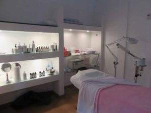 A serene room for skin treatments