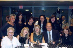 From left (seated): Hannah Margulies, Hope Gany, Marjorie Hoffman, Jon Hoffman and Lori Citak; (standing): Helene Chaitin, Shari Garfinkel, Lisa Weiner, Alyssa Garfinkel and Barbara Levy