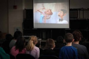 Children can watch a film during the Town of North Hempstead Vacation Recreation Program.