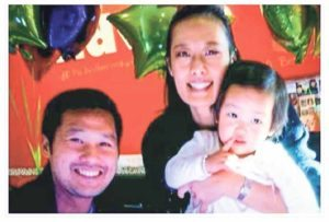 Dr. Hetty Chung with her husband, Michael Kim, and their daughter, Isabella