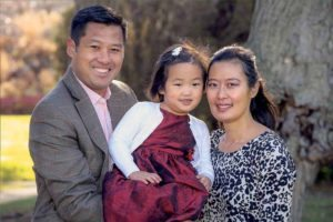 Hetty Chung stands with her husband and young daughter, who both encourage her to be hopeful that she'll find a new kidney.