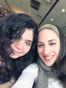 Sara with her mom, Tamar