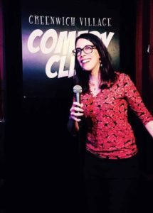 Talia Reese entertains the audience at the Greenwich Comedy Club, where she frequently performs on weekends.