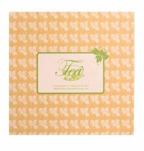 Even Heavenly Tea Leaves' box is serene.